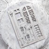 "Набор чипборда ""Фонари"" из коллекции ""Dreams come true"" 10х15 см, 1.55 мм"