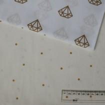 """Ткань """"Горошек 4мм золотой на белом"""" размер 40х50 см."""