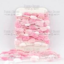 Набор тесьмы с помпонами Melange pink