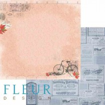 """Лист бумаги для скрапбукинга """"Обрывки памяти"""", коллекция """"Краски осени"""", 30х30, плотность 190 гр, FD1004709"""