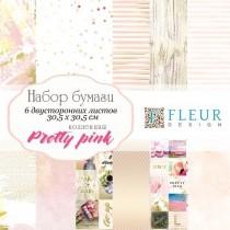 """Набор бумаги """"Pretty pink"""" 20х20, 6 двусторонних листов"""