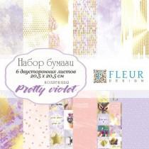 """Набор бумаги """"Pretty violet"""" 20х20, 6 двусторонних листов"""