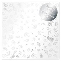 Ацетатный лист с фольгированием Silver Dill 30,5х30,5 см, пл.200 г/м