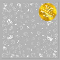 Ацетатный лист с фольгированием White Dill 30,5х30,5 см, пл.200 г/м
