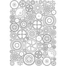Оверлей Шестеренки фон, размер 21х29,7 см