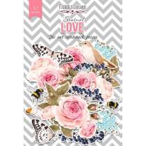 """Набор высечек, коллекция """"Sensual Love"""",57 шт, пл. 250 г/кв.м"""