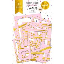 """Набор рамок с фольгированием №1 """"Pink"""" 39шт"""