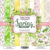 """Набор двусторонней скрапбумаги """"Spring blossom"""" 20 Х 20 см, 10 листов, бонус - один лист для вырезания,  Плотность 200 г/м кв."""