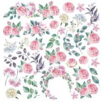 """Лист с картинками для вырезания 30 см x 30 см, плотностью 200 г/кв.м, коллекция """"Mysterious garden"""""""