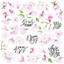 """Лист с картинками для вырезания 30 см x 30 см, плотностью 200 г/кв.м, коллекция """"Magnolia in bloom"""""""