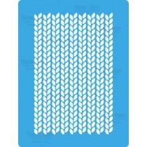 Трафарет «Вязаное полотно» 20смх15см