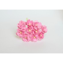 Цветы вишни средние - Розовые 120 1 шт, 1,5-2см высота цветка 1 см длина стебля ок 7 см