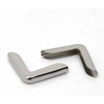 Уголок металлический серебро, 14х14