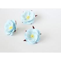 Дикие розы - Голубые диаметр ок. 4.5-5 см высота ок. 1.5 см длина стебля ок. 2 см, 1 шт