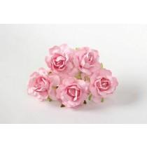 Кудрявые розы 4 см - Розовоперсиковые , 1 шт