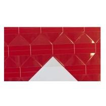 yrолки для фото прозрачные с красным контуром, 1 лист 102 шт, Adam-yr1