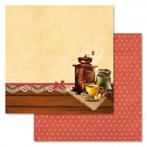 """Бумага """"Магия кофе. Бодрое утро"""" (ScrapMania), размер 30,5х30,5 см, пл.180 гр/м2"""