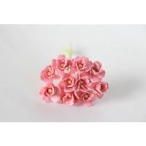 Цветы вишни средние - Розовоперсиковые 123 1 шт 1,5-2см высота цветка 1 см длина стебля ок 7 см