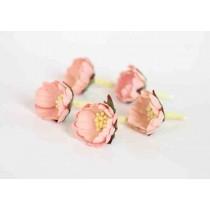 Шиповник - Розовоперсиковый светлый 1 шт, диам ок.3 см, высота ок.1.5 см, длина стебля ок. 2.5 см