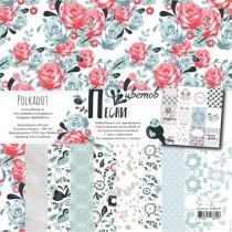 """Набор бумаги """"Песни цветов"""" размер 20х20 см, пл. 190 гр\м2"""