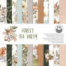 1/2 Набора бумаги Forest tea party, 15х15, 12л, пл 240 г/м