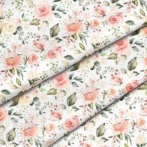 """Премиум хлопок """"Весенние розы"""" размер 50х40 см., пл.150 гр/м2, Польша"""