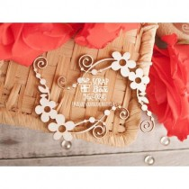 Чипборд цветочные уголки с завитками