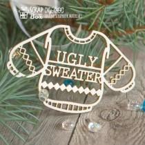 """Чипборд свитер с надписью """"Ugly Sweater"""" Hy-044"""