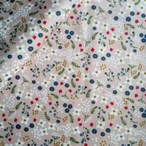 """Ткань """"Веточки, цветочки на розовом"""", размер 40х50 см, 100% хлопок"""