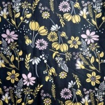 "Ткань ""Желтые цветы на темном"", размер 40х50 см, 100% хлопок"