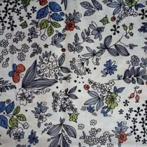 """Ткань """"Голубая полянка на белом"""", размер 40х50 см, 100% хлопок"""
