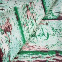 """Ткань лен """"Зеленые доски"""", размер 50х48 см"""