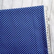 """Ткань """"Горох на синем"""", размер 40х50 см, 100% хлопок"""