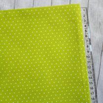"Ткань ""Горох на лимонном"", размер 40х50 см, 100% хлопок"