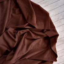 "Искуственная замша двусторонняя, цвет ""Темно-коричневый"", отрез 33х70 см"