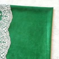"Искуственная замша двусторонняя-3, цвет ""Ярко-зеленый"", отрез 33х70 см"