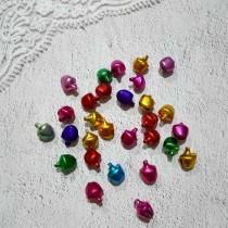 Колокольчики цветные, набор 5 шт, размер 1 шт 0,8 см, цвета МИКС