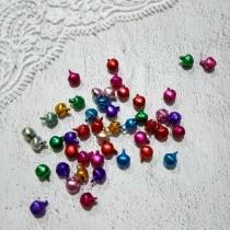 Бубенчики, набор 5 шт, размер 1 шт 0,6 см, цвета МИКС