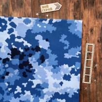 "Отрез ткани ""Излом"" синяя, 33х70 см."