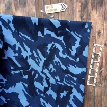 Отрез ткани камуфляж темно-синий, 33х70 см