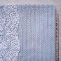 """Хлопковое полотно """"Косичка"""" 50х46 см, цвет голубой"""