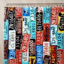 "Ткань канвас ""Билетики"", размер 45х48 см"