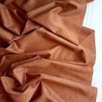 "Искуственная замша двусторонняя, цвет ""Рыже-коричневый"", отрез 33х70 см"