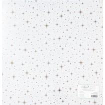 """Прозрачный ацетатный лист с золотым фольгированием """"Мерцание"""", размер  305х305 мм."""
