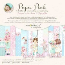 "Набор двусторонней бумаги ""Girl's Little World"" 6 листов, размер 30,5 x30,5 см, пл.250 г/м2"