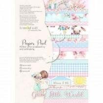 """1/2 Набора бумаги """"Girl's Little World"""" 8 листов, размер A4 (21.5x29,7cm), пл.250 г/м2"""