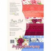 "1/2 Набор бумаги ""Happy Anniversary"" 8 листов, размер A4 (21.5x29,7cm), пл.250 г/м2"