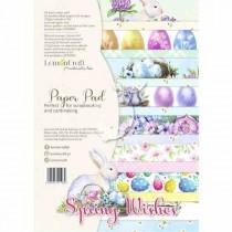 "1/2 Набора бумаги ""Spring Wishes"" 8 листов, размер A4 (21.5x29,7cm), пл.250 г/м2"