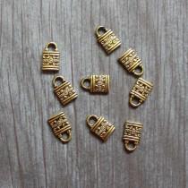 """Декор """"Замок"""", золото,  размер 0,8 см × 1,3 см, 1 шт."""
