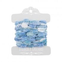 Набор тесьмы с помпонами Melange blue